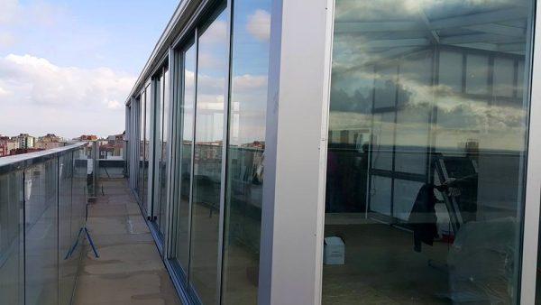 Isı Yalıtımlı Hebeschiebe Sürme Sistemli Cam Tavan Teras Kış Bahçesi Modelleri