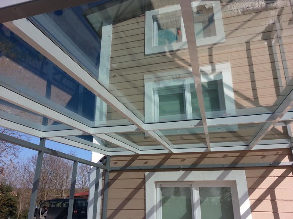 Mutfak giriş Cam Çatı kış bahçesi modelleri