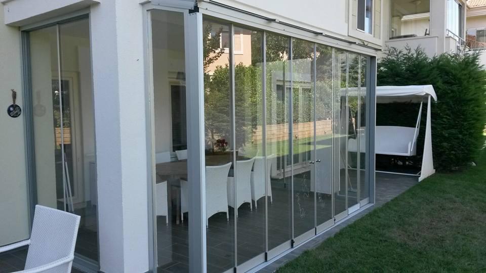 Sürme Katlanır Cam Kış Bahçesi Modelleri