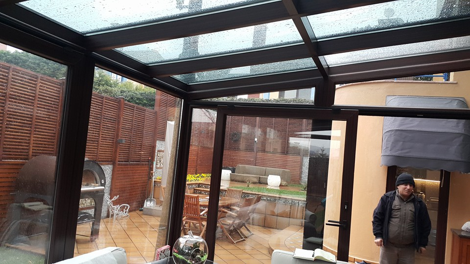 Renkli Kömmerling Pvc Pencere Kış Bahçesi Uygulama
