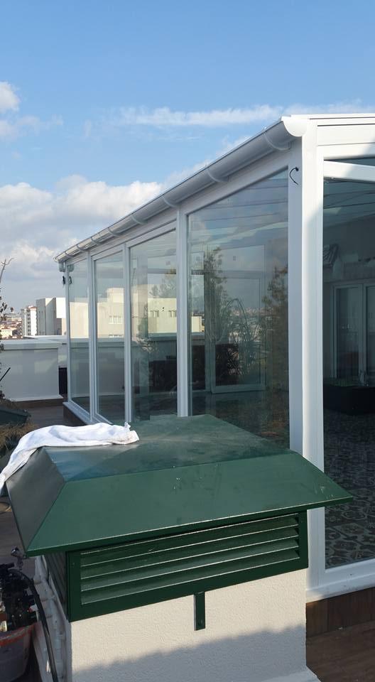 Kömmerling pvc pencereli cam tavan kış bahçesi modelleri