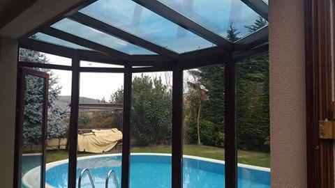 Çekmeköy Aqua city villaları giriş cam tavan kış bahçesi uygulama ısı yalıtımlı alüminyum sistemleri