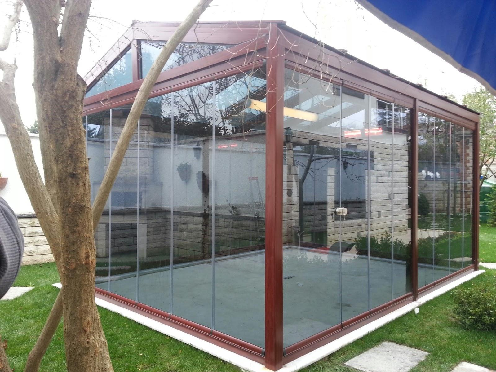 Cam Tavan Katlanır Sürme Kış Bahçesi Modelleri