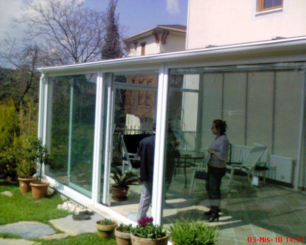 Çengelköy giriş teras cam tavan sistemleri uygulama