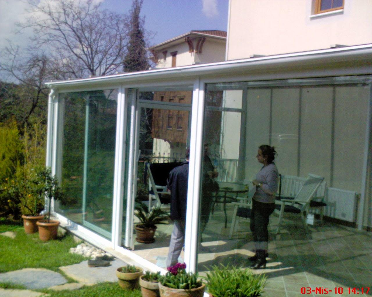 Çengelköy giriş teras cam tavan kış bahçesi sistemleri uygulama