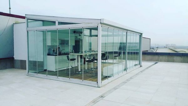Katlanır cam teras kış bahçe sistemleri modelleri